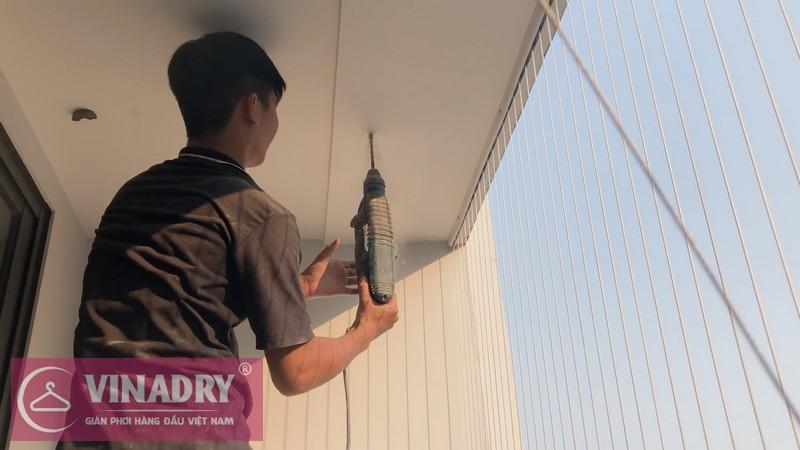 Vinadry lắp giàn phơi chống rối GP972 tại Vinhomes Green Bay Mễ Trì cho nhà chị Lụa 02