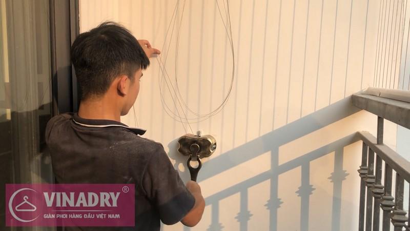 Vinadry lắp giàn phơi chống rối GP972 tại Vinhomes Green Bay Mễ Trì cho nhà chị Lụa 07