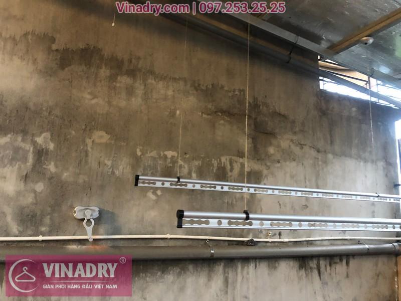 Vinadry lắp giàn phơi thông minh chống rối GP971 tại Thanh Oai, Hà Nội cho nhà chị Phí 01