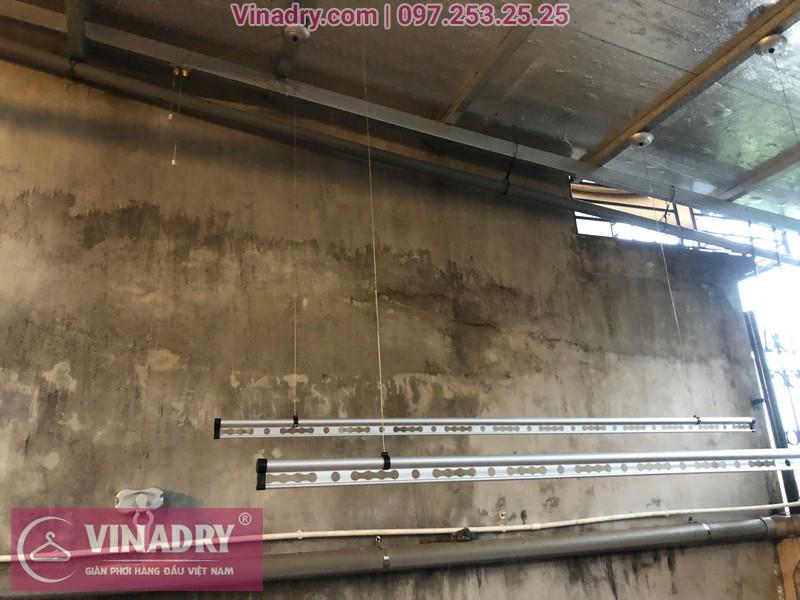 Vinadry lắp giàn phơi thông minh chống rối GP971 tại Thanh Oai, Hà Nội cho nhà chị Phí 02