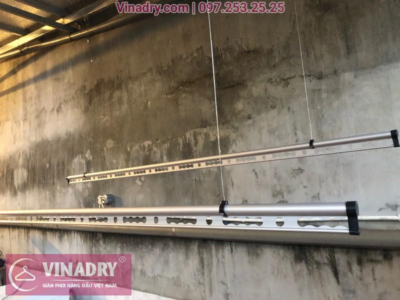 Vinadry lắp giàn phơi thông minh chống rối GP971 tại Thanh Oai, Hà Nội cho nhà chị Phí 03