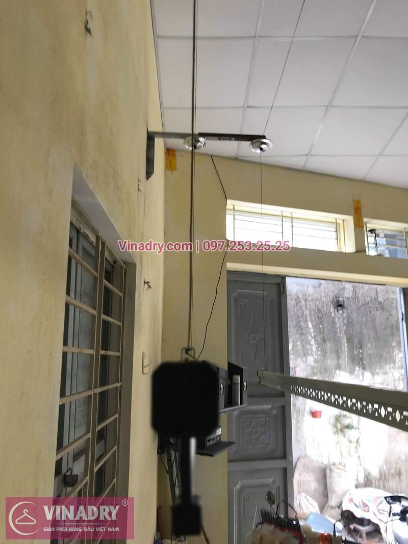 Lắp giàn phơi thông minh giá rẻ tại Gia Lâm, bộ HP701 cho nhà chị Như - 03