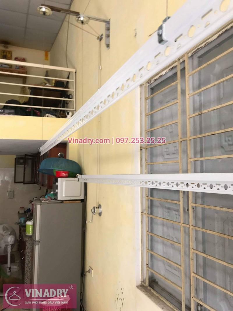 Lắp giàn phơi thông minh giá rẻ tại Gia Lâm, bộ HP701 cho nhà chị Như - 04