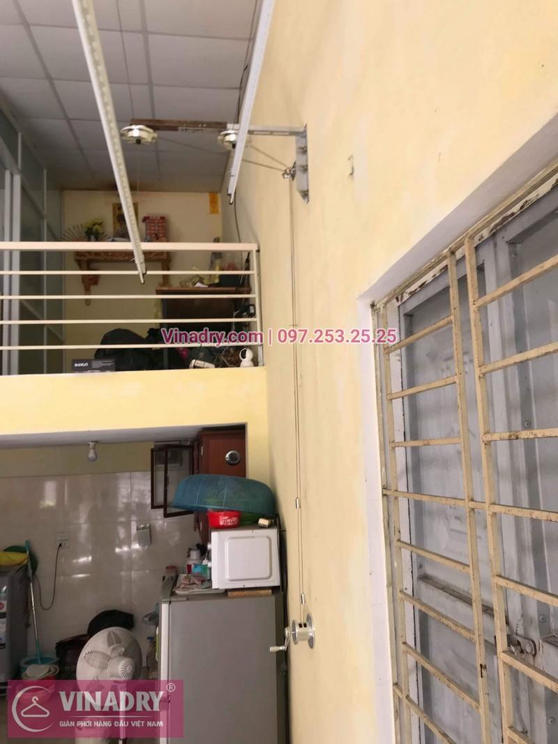 Lắp giàn phơi thông minh giá rẻ tại Gia Lâm, bộ HP701 cho nhà chị Như - 05