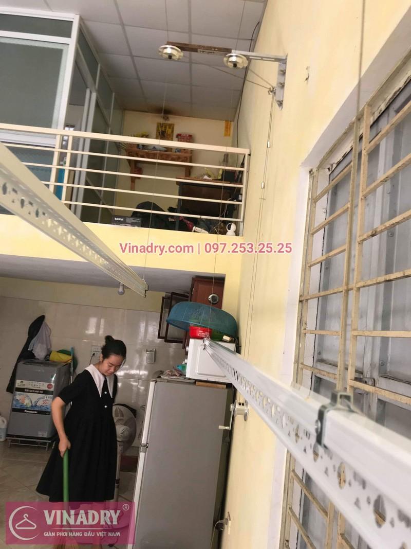 Lắp giàn phơi thông minh giá rẻ tại Gia Lâm, bộ HP701 cho nhà chị Như - 07