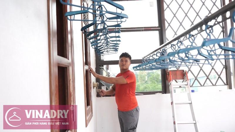 Vinadry lắp giàn phơi thông minh GP902 ở Thanh Xuân cho nhà anh Hạ