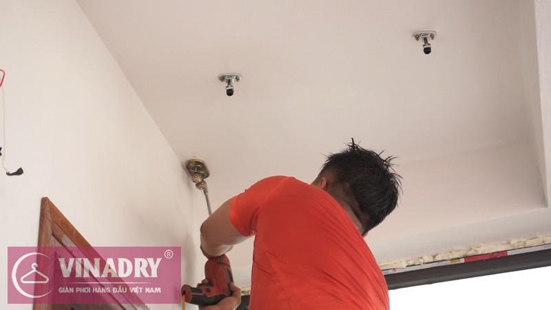 Vinadry lắp giàn phơi thông minh GP902 ở Thanh Xuân cho nhà anh Hạ 05