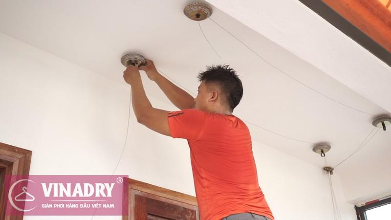 Vinadry lắp giàn phơi thông minh GP902 ở Thanh Xuân cho nhà anh Hạ 07