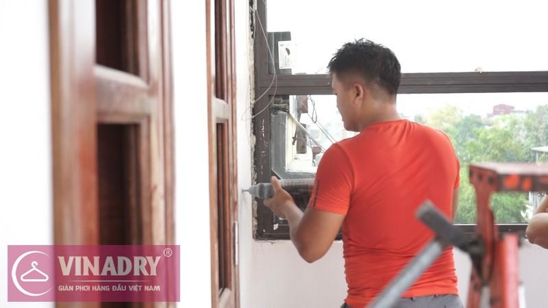 Vinadry lắp giàn phơi thông minh GP902 ở Thanh Xuân cho nhà anh Hạ 08
