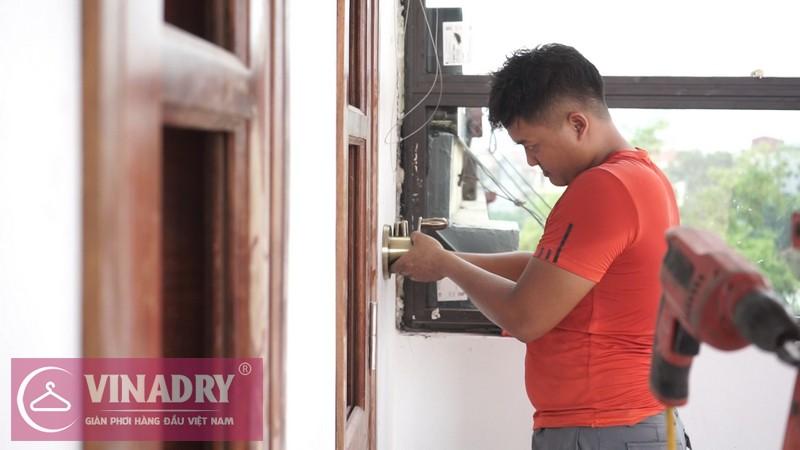 Vinadry lắp giàn phơi thông minh GP902 ở Thanh Xuân cho nhà anh Hạ 09