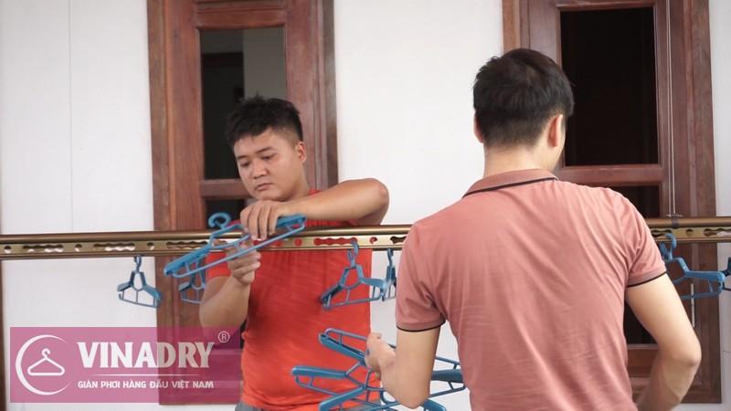 Vinadry lắp giàn phơi thông minh GP902 ở Thanh Xuân cho nhà anh Hạ 11