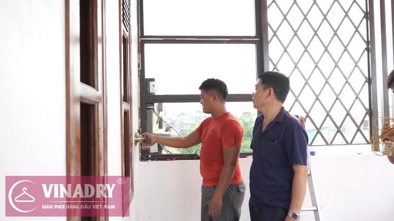 Vinadry lắp giàn phơi thông minh GP902 ở Thanh Xuân cho nhà anh Hạ 13