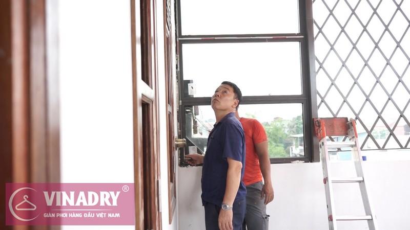 Vinadry lắp giàn phơi thông minh GP902 ở Thanh Xuân cho nhà anh Hạ 14