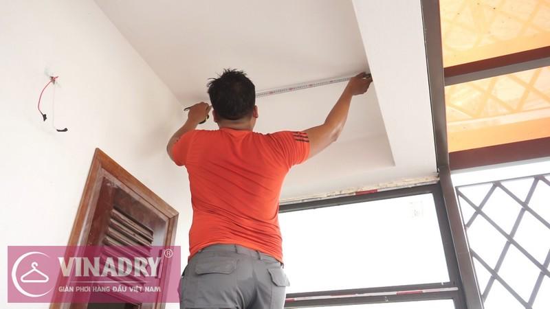 Vinadry lắp giàn phơi thông minh GP902 ở Thanh Xuân cho nhà anh Hạ 01