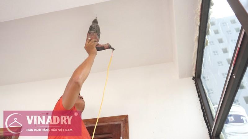 Vinadry lắp giàn phơi thông minh GP902 ở Thanh Xuân cho nhà anh Hạ 02