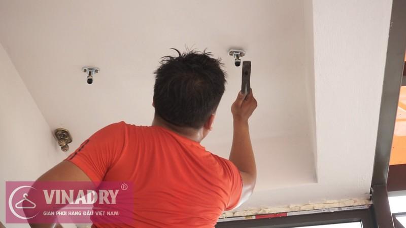 Vinadry lắp giàn phơi thông minh GP902 ở Thanh Xuân cho nhà anh Hạ 03