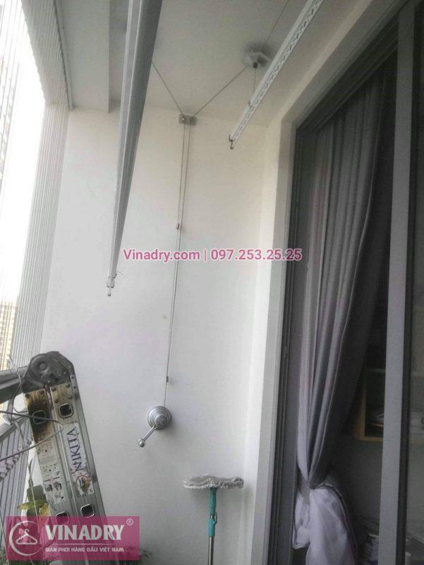 Nhà cô Cầm lắp giàn phơi Hòa Phát giá rẻ KS950 tại Times City - Vinadry lắp giàn phơi chung cư miễn phí 100%