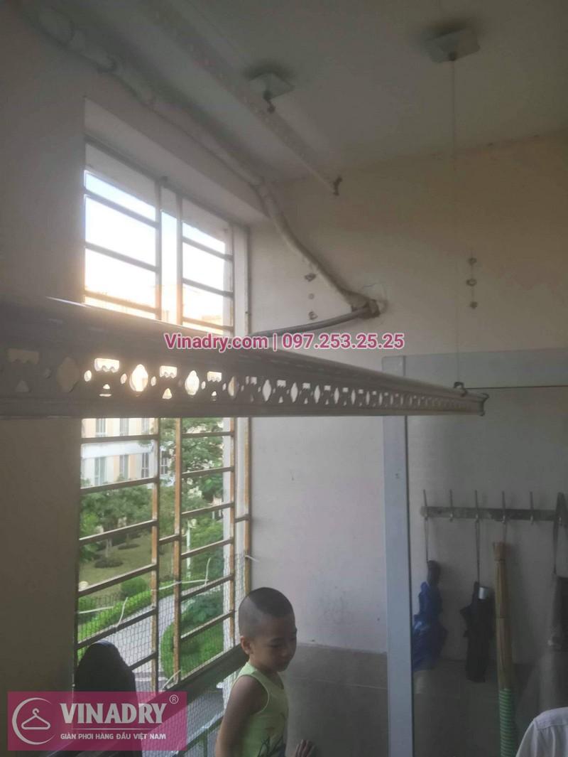Sửa giàn phơi quần áo tại Gia Lâm, khu đô thị Đăng Xá cho nhà chú Thụy 01