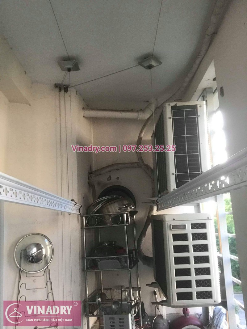 Sửa giàn phơi quần áo tại Gia Lâm, khu đô thị Đăng Xá cho nhà chú Thụy 05