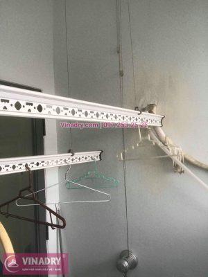 Vinadry thay bộ tời giàn phơi giá rẻ KS950 tại Rice City Linh Đàm cho nhà anh Phú