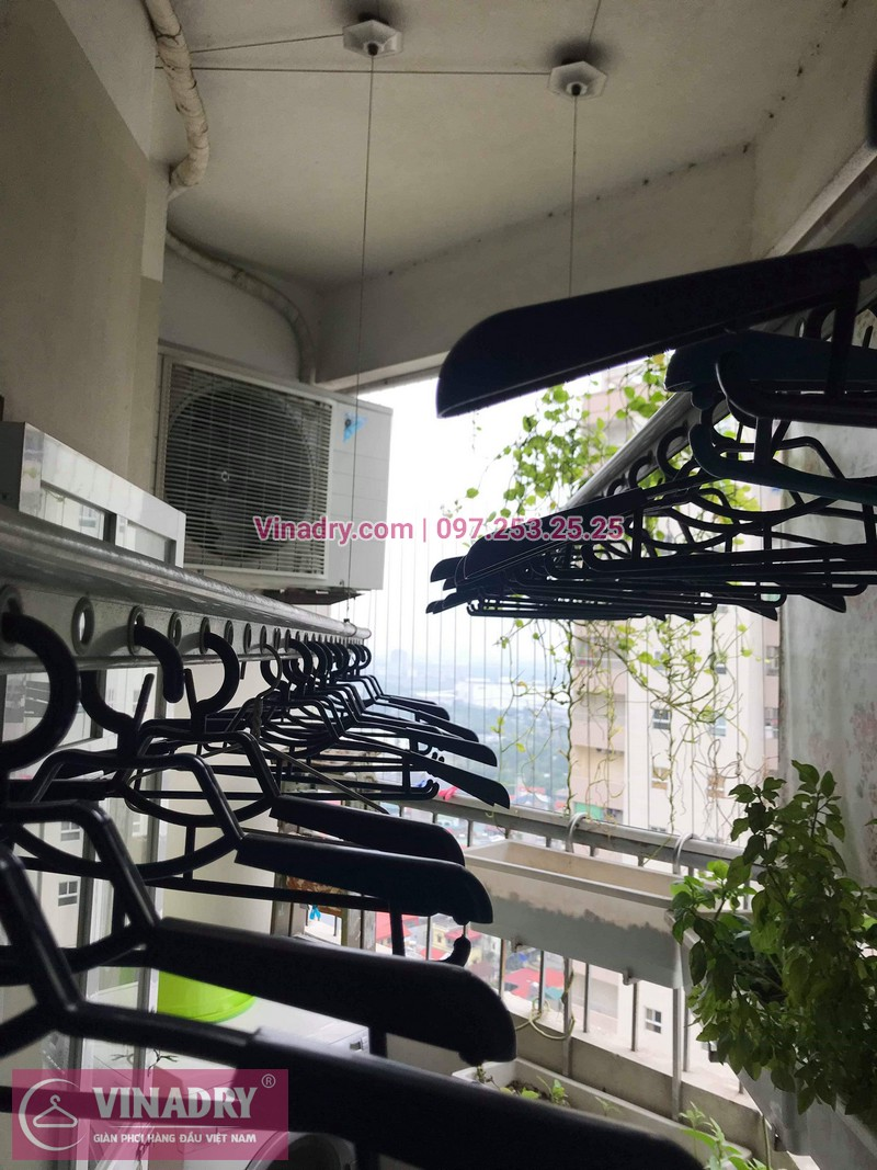 Vinadry thay dây cáp giàn phơi chất giá rẻ tại Thạch Bàn, Long Biên cho nhà anh Hộ chỉ trong 15 phút - 01