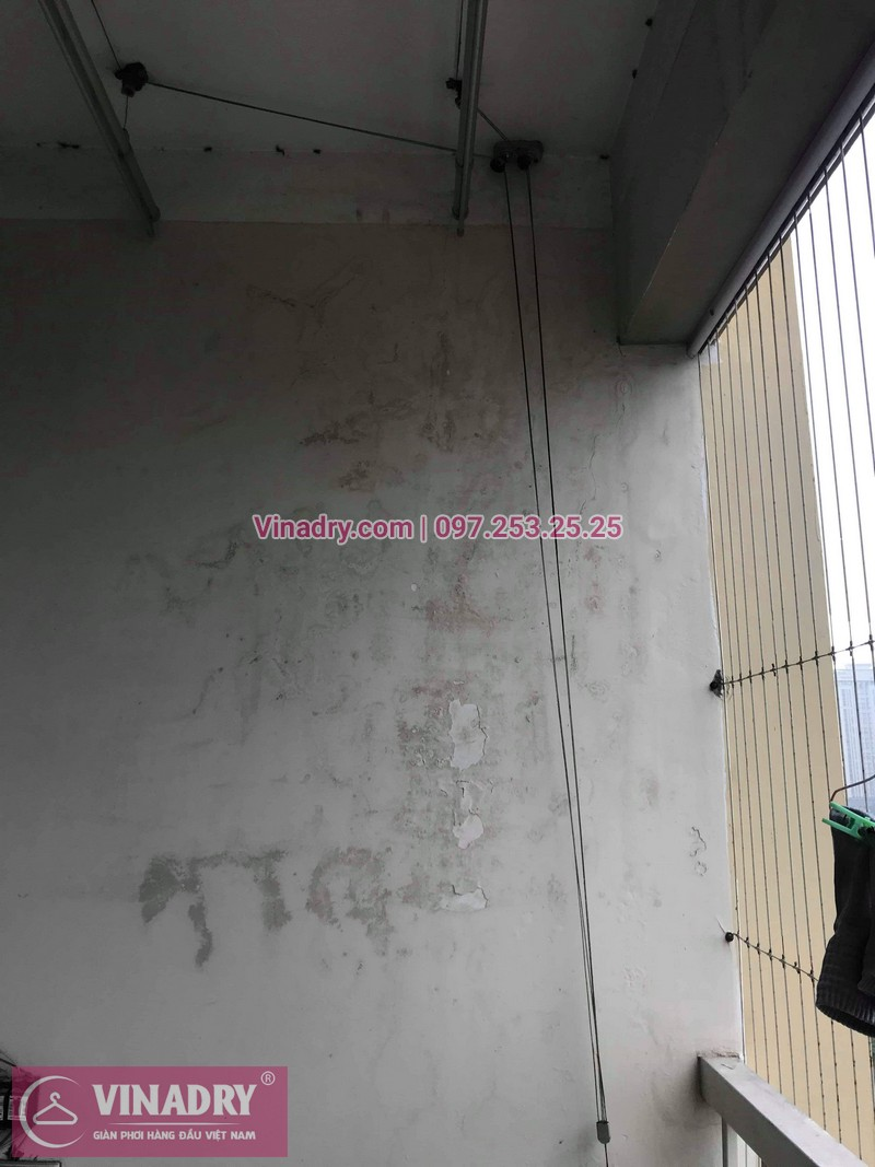 Vinadry thay dây cáp giàn phơi - cáp cực bền chỉ 150k cho nhà anh Lãm tại chung cư Vimeco, Nguyễn Chánh - 06