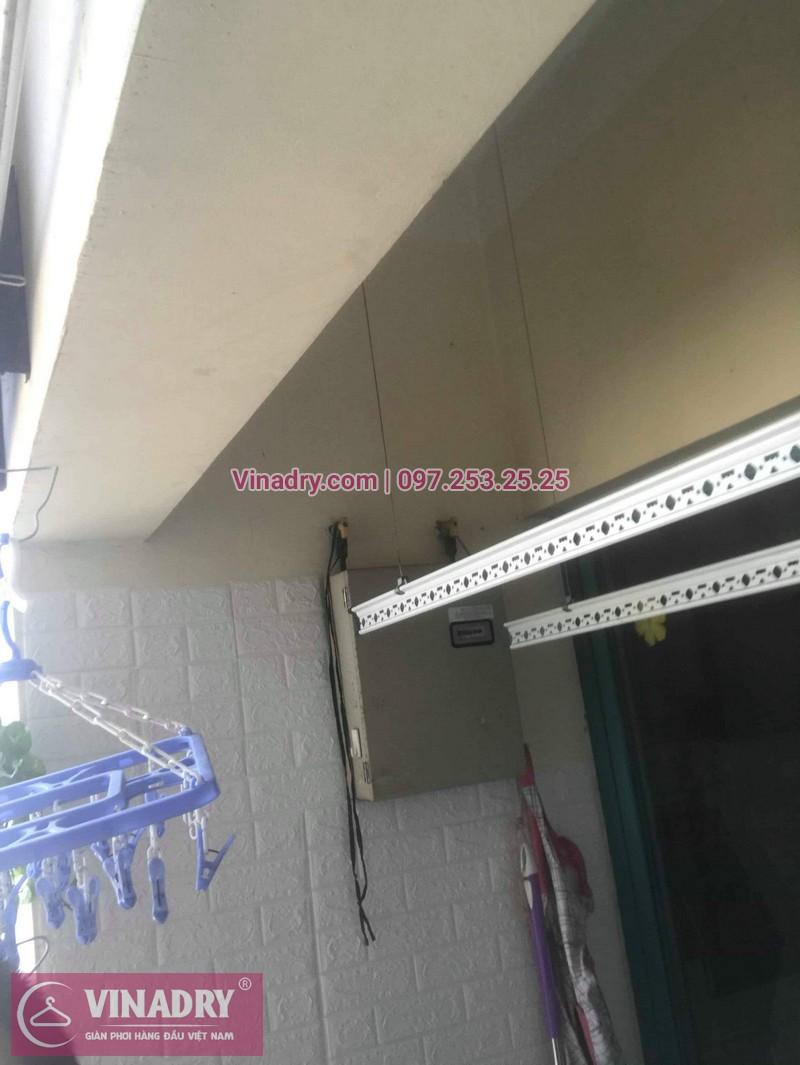 Thay dây cáp giàn phơi tại khu căn hộ Momota, quận Hoàng Mai cho nhà cô Hiên 02