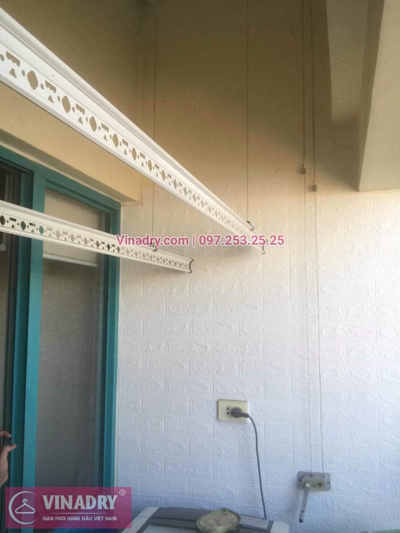 Thay dây cáp giàn phơi tại khu căn hộ Momota, quận Hoàng Mai cho nhà cô Hiên 04