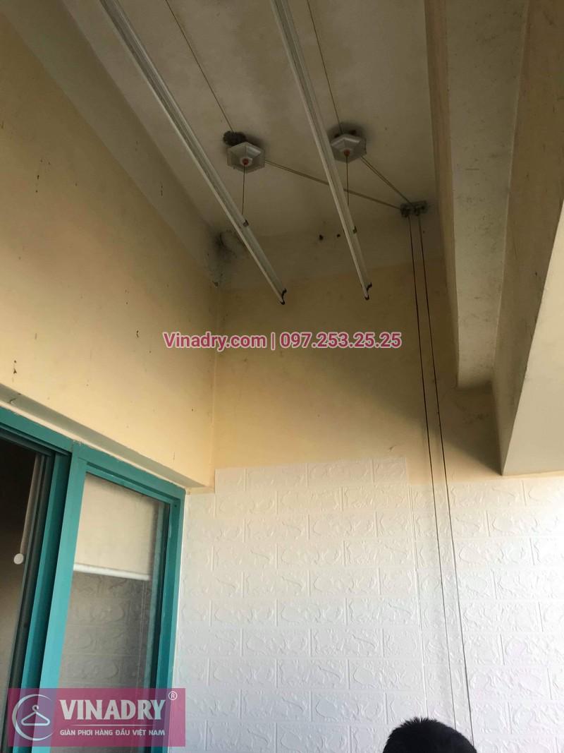 Thay dây cáp giàn phơi tại khu căn hộ Momota, quận Hoàng Mai cho nhà cô Hiên 09
