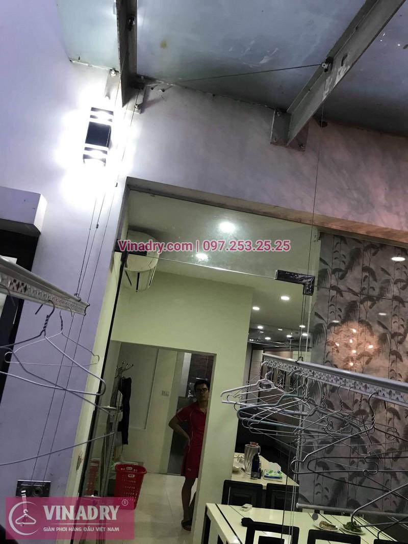 Vinadry thay dây cáp giàn phơi tại khu đô thị Gamuda, Hoàng Mai cho nhà anh Thái 02