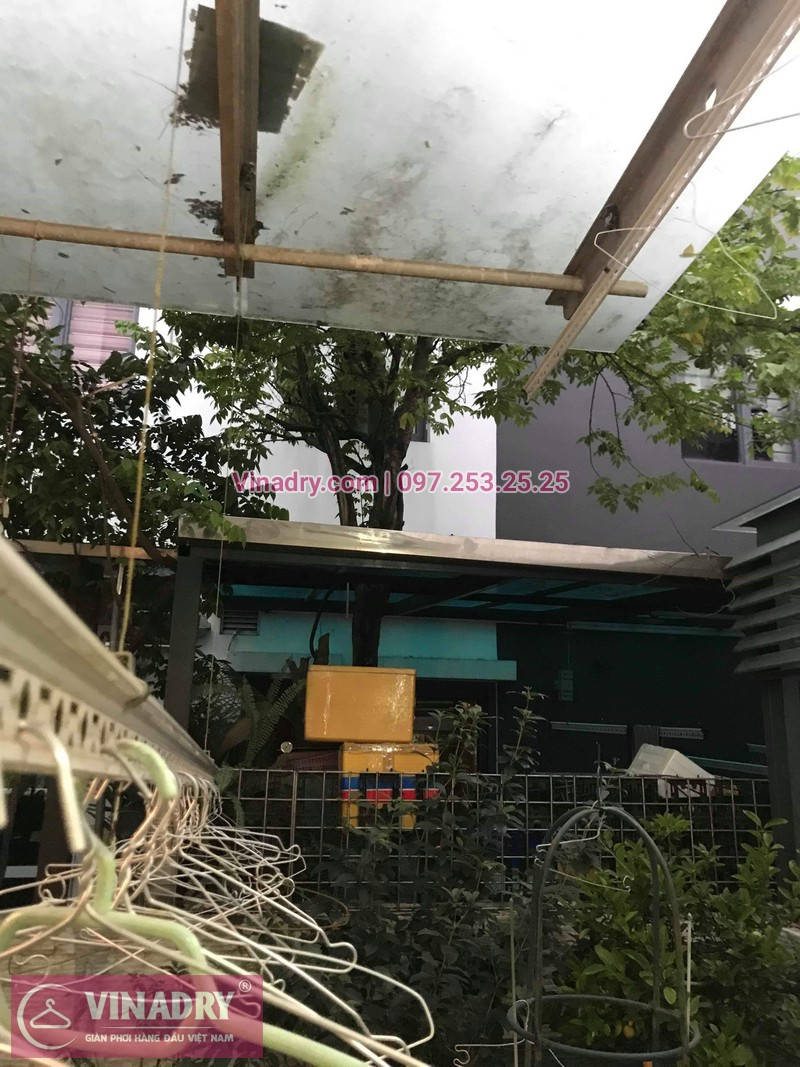 Vinadry thay dây cáp giàn phơi tại khu đô thị Gamuda, Hoàng Mai cho nhà anh Thái 04