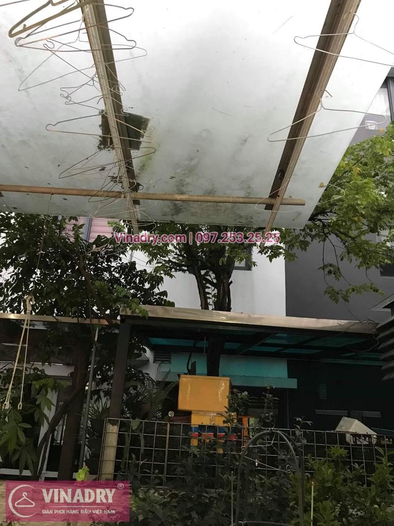 Vinadry thay dây cáp giàn phơi tại khu đô thị Gamuda, Hoàng Mai cho nhà anh Thái 06