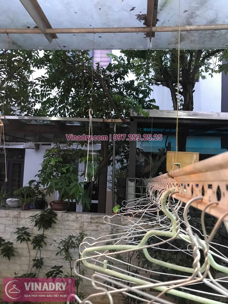 Vinadry thay dây cáp giàn phơi tại khu đô thị Gamuda, Hoàng Mai cho nhà anh Thái 08
