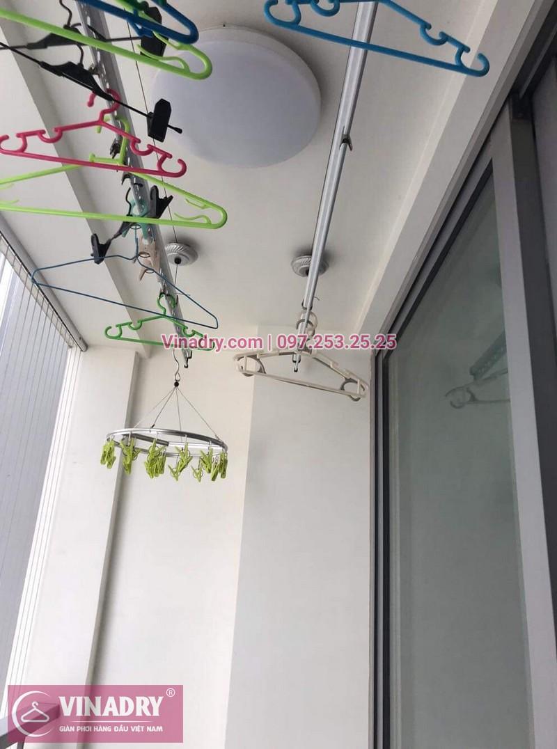 Thay dây cáp giàn phơi TỐT Giá RẺ tại Times City, căn 2007 T9 nhà anh Thủ