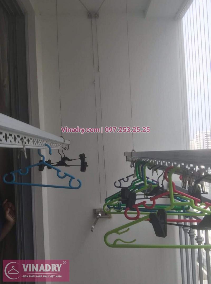 Vinadry thay dây cáp giàn phơi TỐT GIÁ RẺ tại Times City, căn 2007 T9 nhà anh Thủ 01