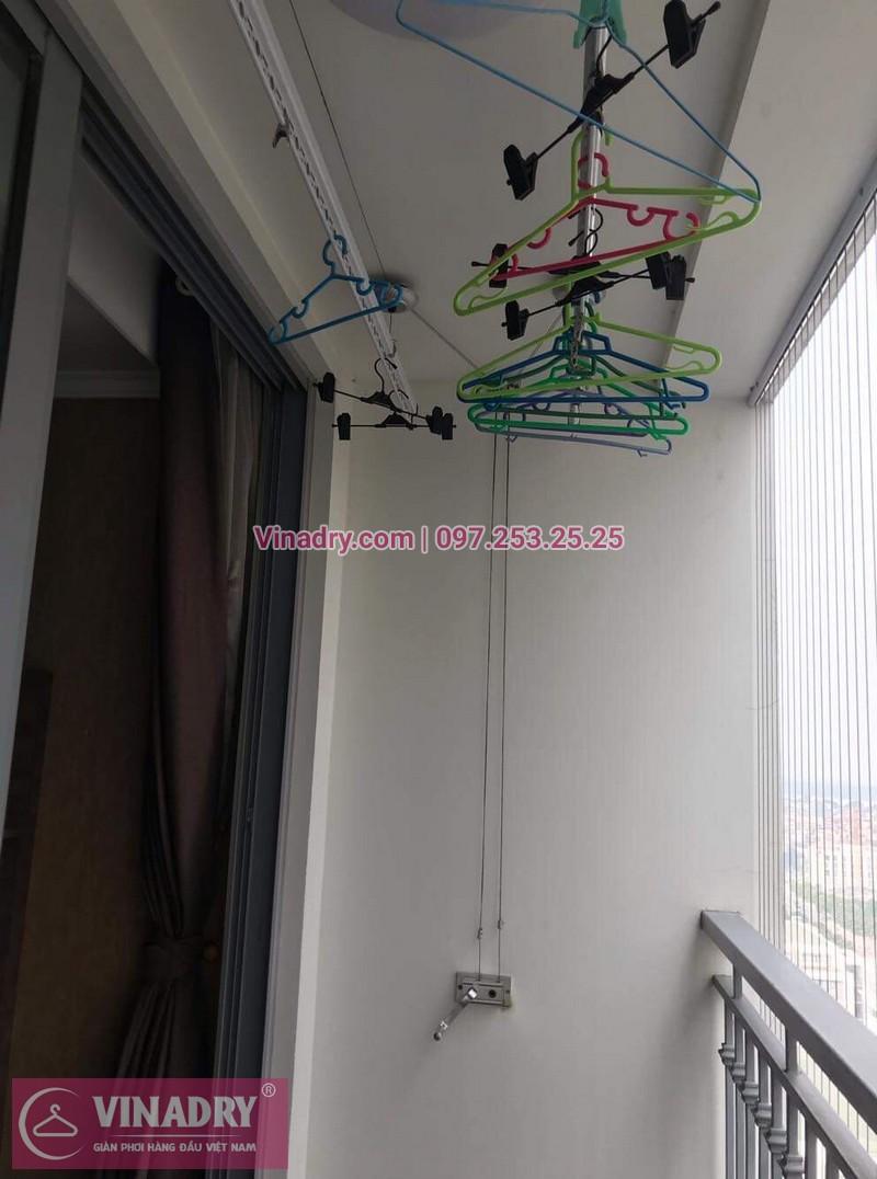 Vinadry thay dây cáp giàn phơi TỐT GIÁ RẺ tại Times City, căn 2007 T9 nhà anh Thủ 07