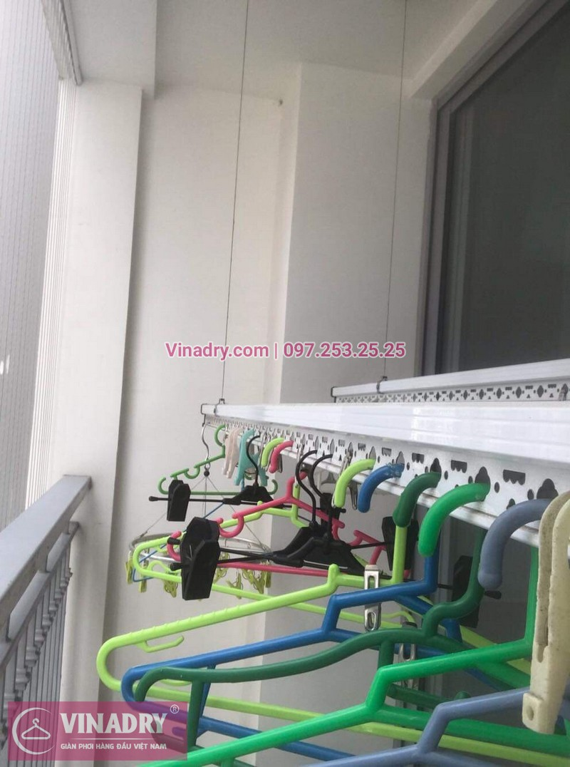 Vinadry thay dây cáp giàn phơi TỐT GIÁ RẺ tại Times City, căn 2007 T9 nhà anh Thủ 08