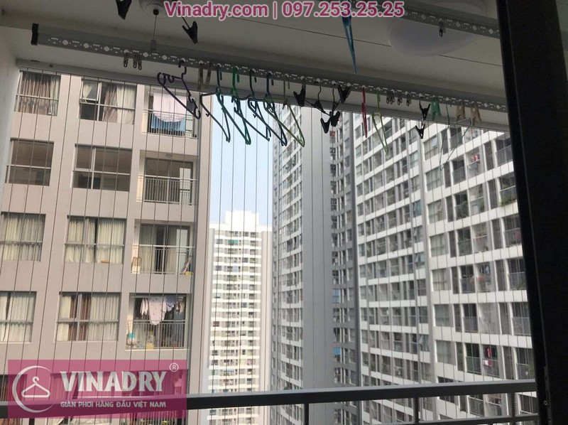Vinadry thay dây cáp giàn phơi TỐT GIÁ RẺ tại Times City, căn 2007 T9 nhà anh Thủ 09