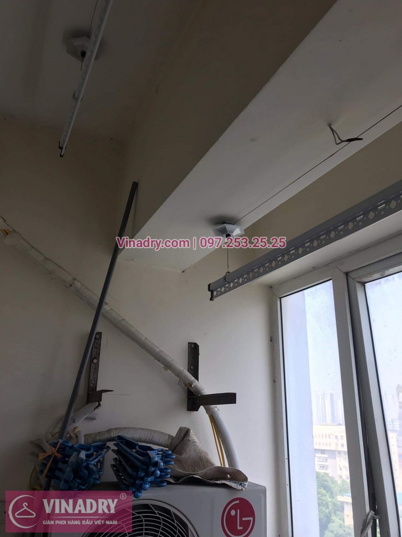 Vinadry thay linh kiện giàn phơi tại chung cư Z133 Bộ Quốc Phòng nhà anh Cảnh, bộ tời HP999B