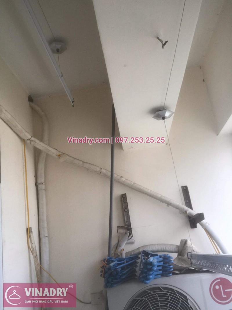 Vinadry thay linh kiện giàn phơi tại chung cư Z133 Bộ Quốc Phòng nhà anh Cảnh, bộ tời HP999B 03