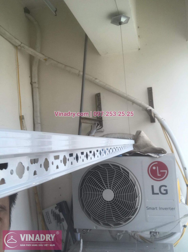 Vinadry thay linh kiện giàn phơi tại chung cư Z133 Bộ Quốc Phòng nhà anh Cảnh, bộ tời HP999B 04