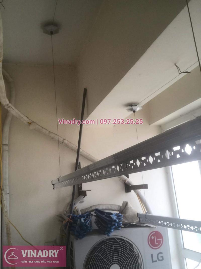 Vinadry thay linh kiện giàn phơi tại chung cư Z133 Bộ Quốc Phòng nhà anh Cảnh, bộ tời HP999B 05