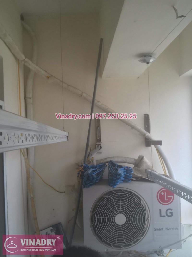 Vinadry thay linh kiện giàn phơi tại chung cư Z133 Bộ Quốc Phòng nhà anh Cảnh, bộ tời HP999B 07