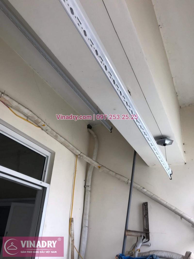 Vinadry thay linh kiện giàn phơi tại chung cư Z133 Bộ Quốc Phòng nhà anh Cảnh, bộ tời HP999B 09