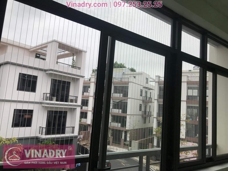 Vinadry thi công lưới an toàn ban công, lưới an toàn cửa sổ các phòng của quán karaoke