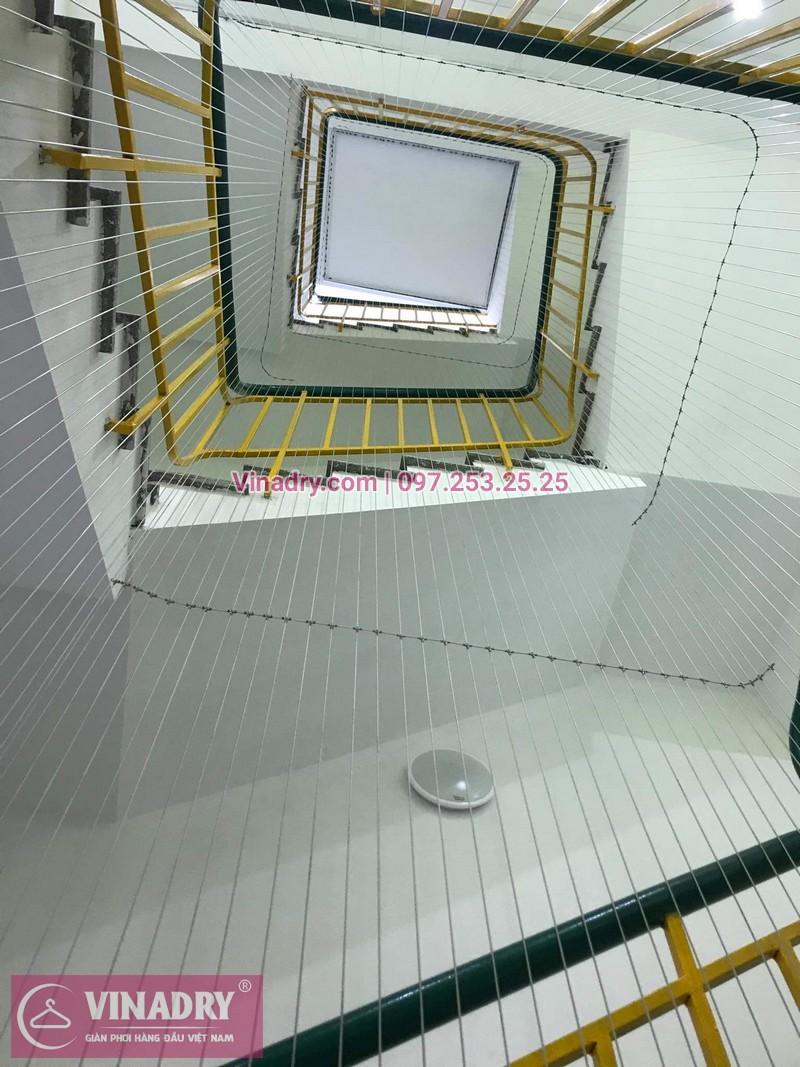 Vinadry thi công lưới an toàn ban công, lưới an toàn cầu thang tại Karaoke 5 sao, 16 Trần Hữu Dục