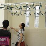 Vinadry lắp giàn phơi chống rối GP971 tại Bắc Từ Liêm cho nhà chị Huệ