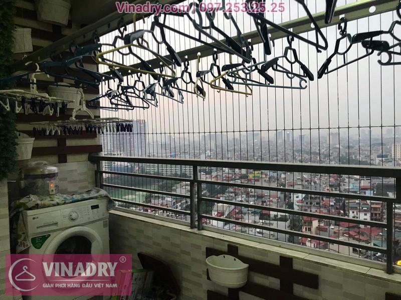 Vinadry sửa giàn phơi tại Hoàng Mai, chung cư Nam Đô cho nhà chú Kỳ 07