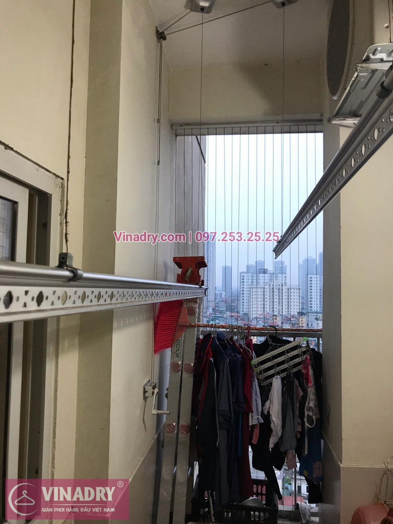 Giàn phơi Hòa Phát HP999B lắp tại Thăng Long Garden, 250 Minh Khai nhà anh Chiến - ảnh 01