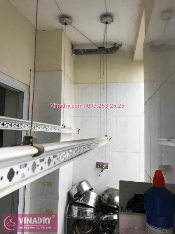 Vinadry lắp giàn phơi giá rẻ HP999B tại KĐT Đặng Xá, Gia Lâm cho gia đình chị Tâm